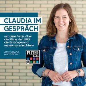 Junge ÖVP Falter Radio Claudia Plakolm im Gespräch über Staatsbürgerschaft