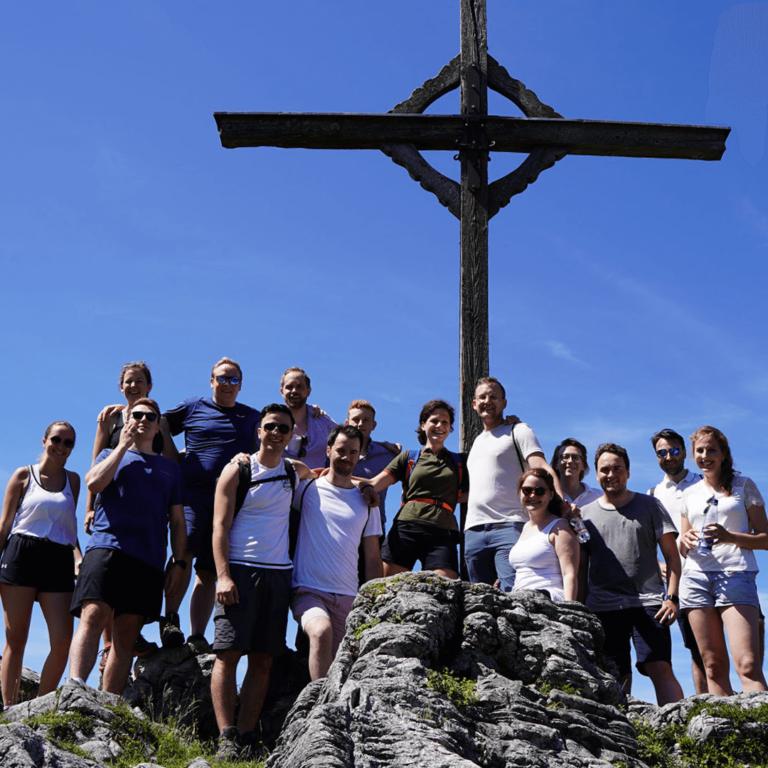 Junge OEVP x Junge Union Grenzwanderung 2021 Ebbs Tirol