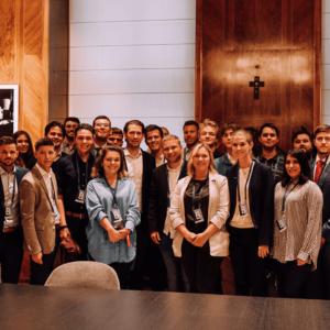 Junge OEVP JVP Academy Besuch bei Sebastian Kurz